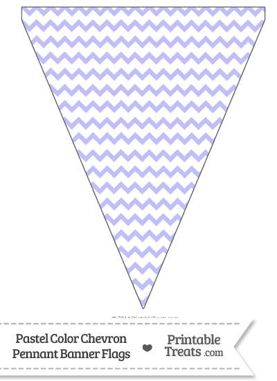 Pastel Purple Chevron Pennant Banner Flag from PrintableTreats.com
