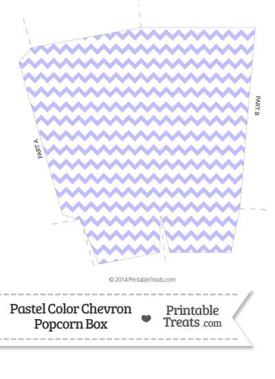 Pastel Purple Chevron Popcorn Box from PrintableTreats.com