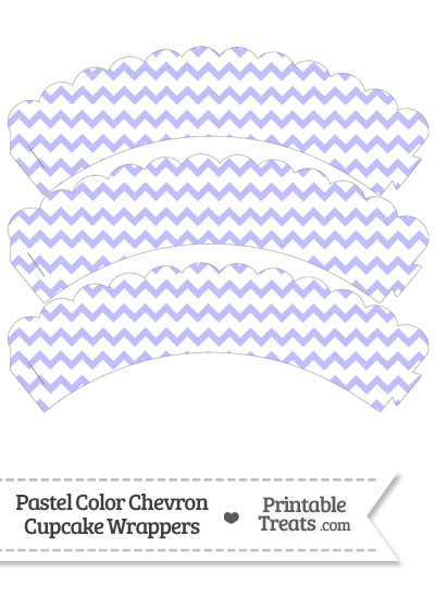 Pastel Purple Chevron Scalloped Cupcake Wrappers from PrintableTreats.com