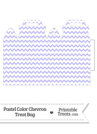Pastel Purple Chevron Treat Bag from PrintableTreats.com