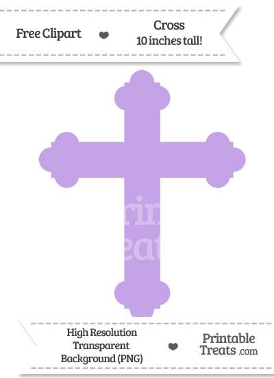 Pastel Purple Cross Clipart from PrintableTreats.com