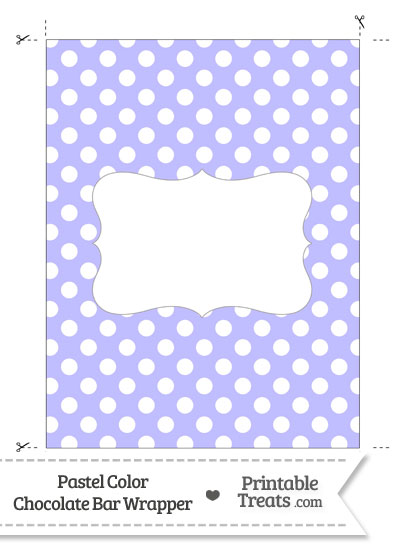 Pastel Purple Polka Dot Chocolate Bar Wrappers from PrintableTreats.com