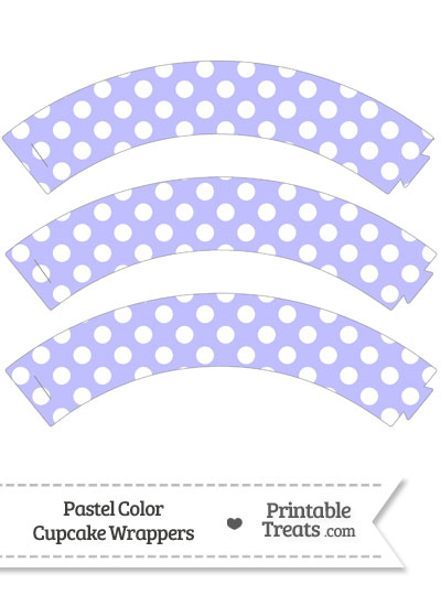 Pastel Purple Polka Dot Cupcake Wrappers from PrintableTreats.com