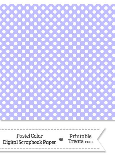 Pastel Purple Polka Dot Digital Scrapbook Paper from PrintableTreats.com