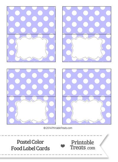 Pastel Purple Polka Dot Food Labels from PrintableTreats.com