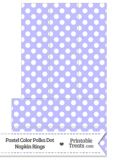 Pastel Purple Polka Dot Napkin Rings from PrintableTreats.com