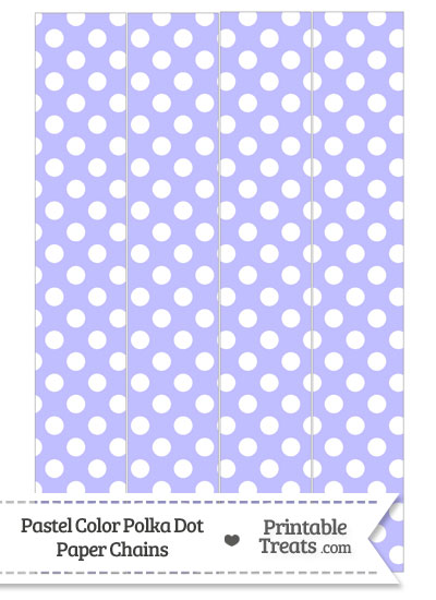 Pastel Purple Polka Dot Paper Chains from PrintableTreats.com