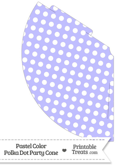 Pastel Purple Polka Dot Party Cone from PrintableTreats.com