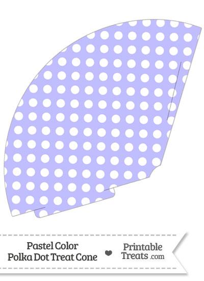 Pastel Purple Polka Dot Treat Cone from PrintableTreats.com