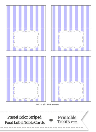 Pastel Purple Striped Food Labels from PrintableTreats.com