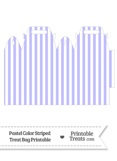 Pastel Purple Striped Treat Bag from PrintableTreats.com