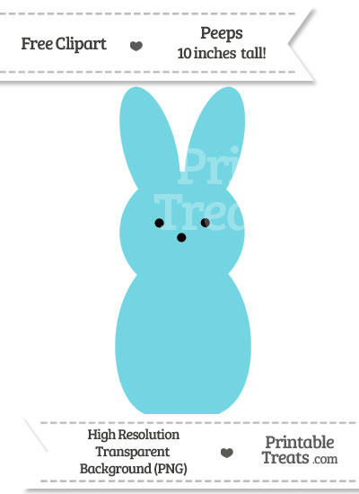 Pastel Teal Peeps Clipart from PrintableTreats.com