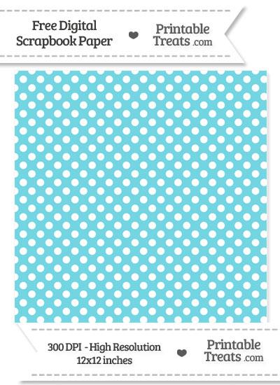 Pastel Teal Polka Dot Digital Paper from PrintableTreats.com