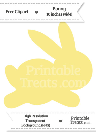 Pastel Yellow Bunny Clipart from PrintableTreats.com