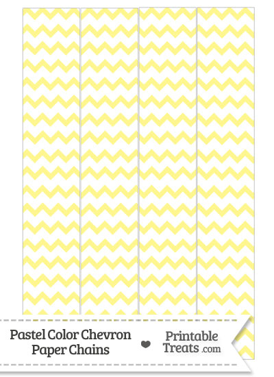 Pastel Yellow Chevron Paper Chains from PrintableTreats.com