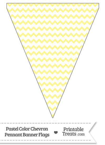 Pastel Yellow Chevron Pennant Banner Flag from PrintableTreats.com