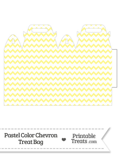 Pastel Yellow Chevron Treat Bag from PrintableTreats.com