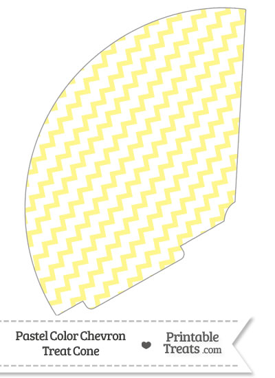 Pastel Yellow Chevron Treat Cone from PrintableTreats.com