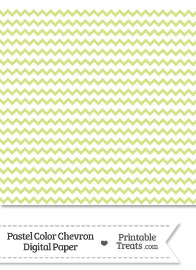 Pastel Yellow Green Chevron Digital Scrapbook Paper from PrintableTreats.com