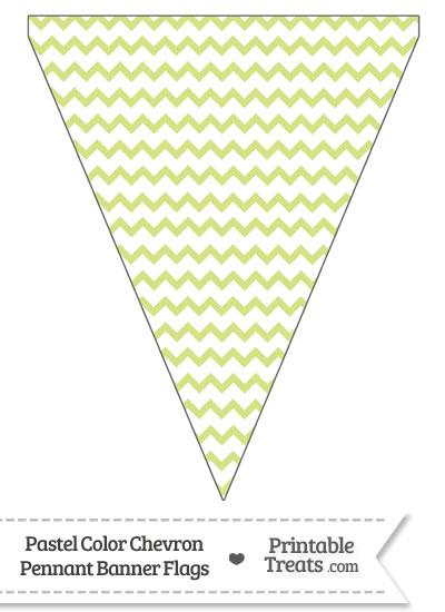 Pastel Yellow Green Chevron Pennant Banner Flag from PrintableTreats.com