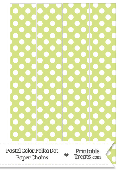 Pastel Yellow Green Polka Dot Paper Chains from PrintableTreats.com
