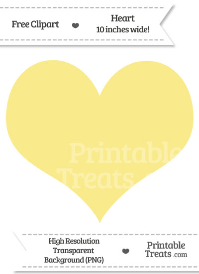 Pastel Yellow Heart Clipart from PrintableTreats.com