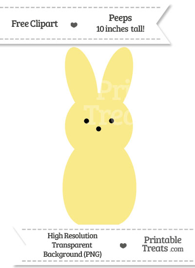 Pastel Yellow Peeps Clipart from PrintableTreats.com