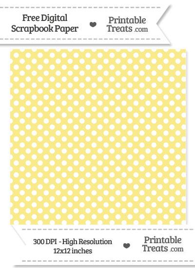 Pastel Yellow Polka Dot Digital Paper from PrintableTreats.com