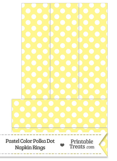 Pastel Yellow Polka Dot Napkin Rings from PrintableTreats.com