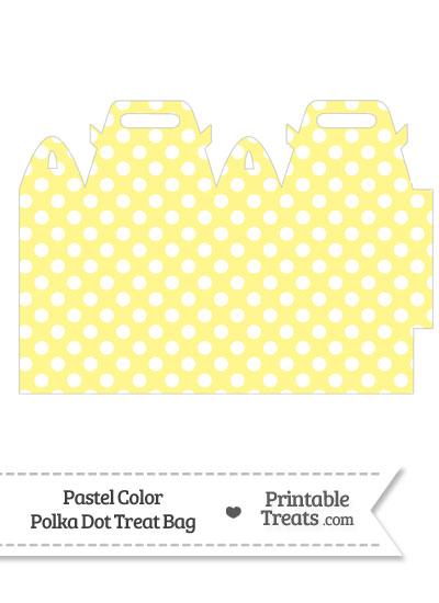 Pastel Yellow Polka Dot Treat Bag from PrintableTreats.com