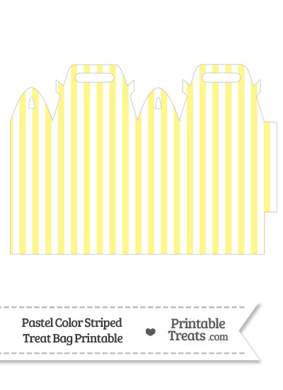 Pastel Yellow Striped Treat Bag from PrintableTreats.com