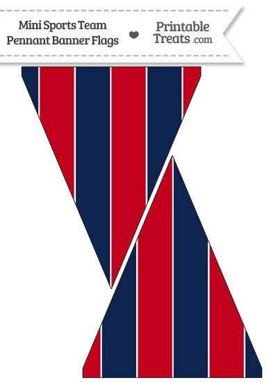Patriots Colors Mini Pennant Banner Flags from PrintableTreats.com
