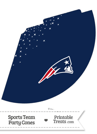 Patriots Party Cone Printable from PrintableTreats.com