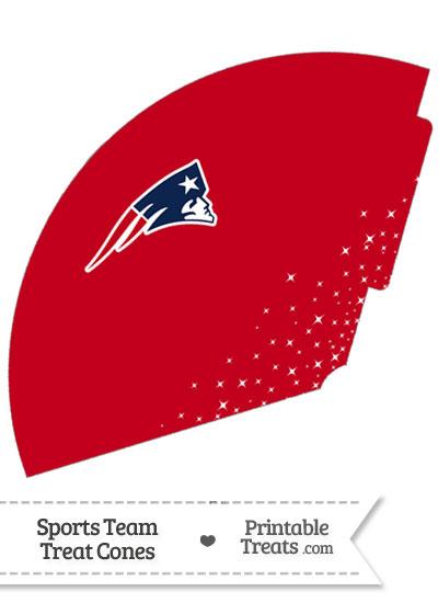 Patriots Treat Cone Printable from PrintableTreats.com
