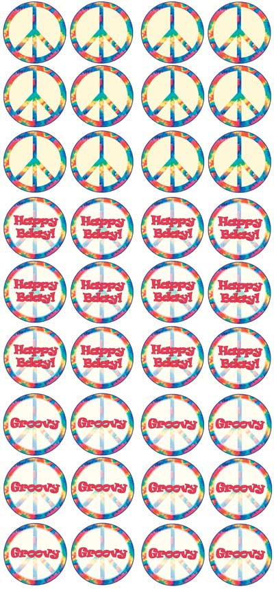 peace sign cupcake toppers