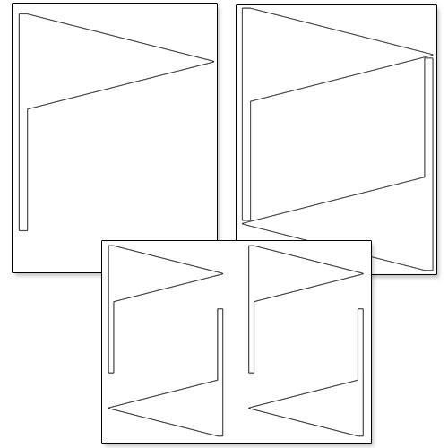 pennant flag shapes