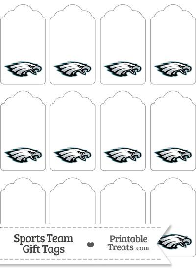 Philadelphia Eagles Gift Tags from PrintableTreats.com