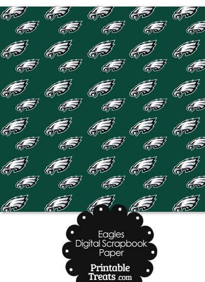 Philadelphia Eagles Logo Digital Paper from PrintableTreats.com