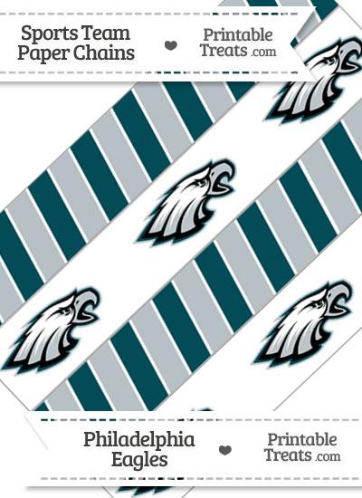 Philadelphia Eagles Paper Chains from PrintableTreats.com