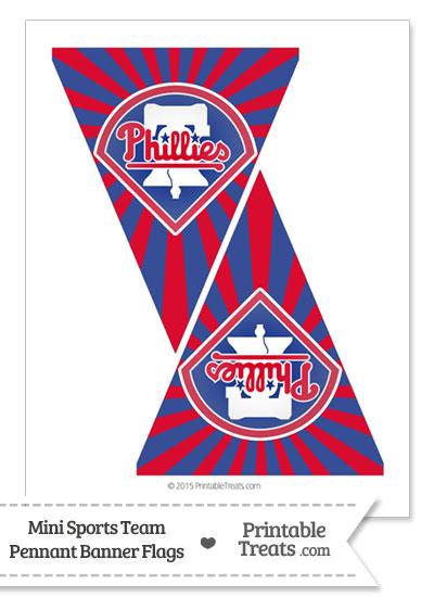 Philadelphia Phillies Mini Pennant Banner Flags from PrintableTreats.com