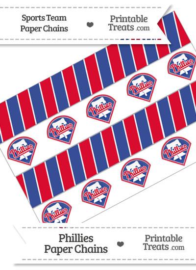 Philadelphia Phillies Paper Chains from PrintableTreats.com