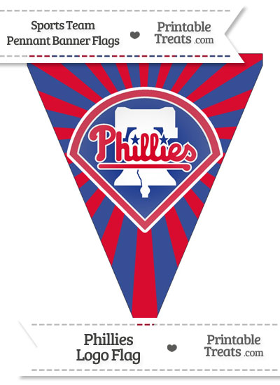 Philadelphia Phillies Pennant Banner Flag from PrintableTreats.com