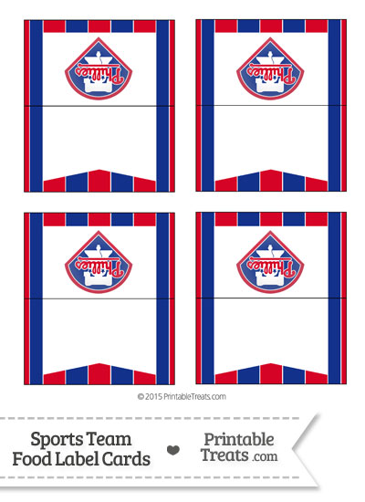 Phillies Food Label Buffet Cards from PrintableTreats.com