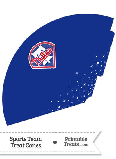 Phillies Treat Cone Printable from PrintableTreats.com