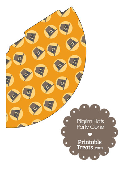 Pilgrim Hats Party Cone from PrintableTreats.com