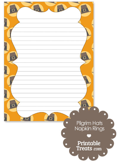Pilgrim Hats Stationery Paper from PrintableTreats.com
