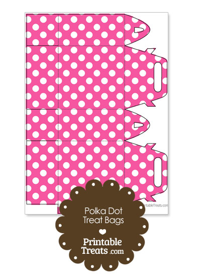 Pink and White Polka Dot Treat Bags to Print from PrintableTreats.com