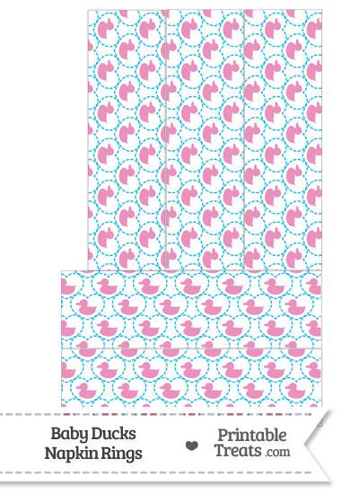 Pink Baby Ducks Napkin Rings from PrintableTreats.com