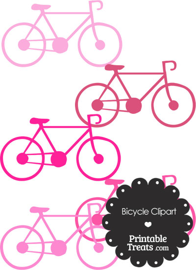 Pink Bicycle Clipart from PrintableTreats.com