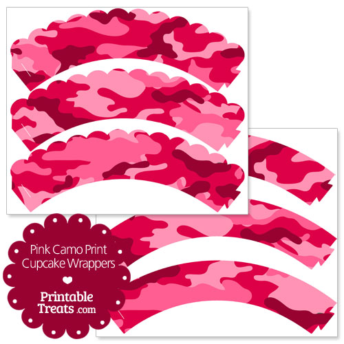 pink camo print cupcake wrappers
